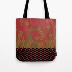 Pattern 1, Red Tote Bag