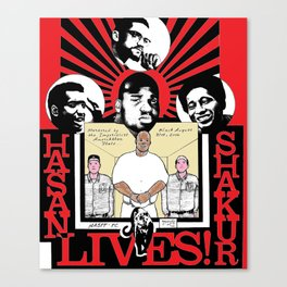 Hasan Shakur Lives Canvas Print