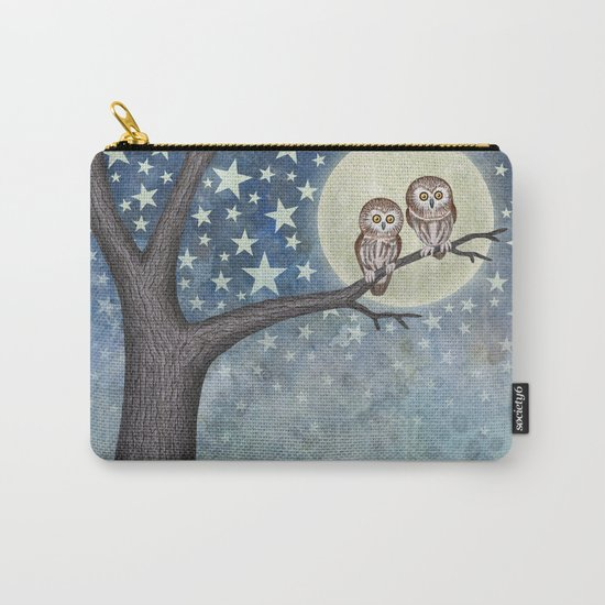 northern saw whet owls under the stars Carry-All Pouch