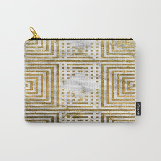 Marble and Gold Pattern #2 Carry-All Pouch