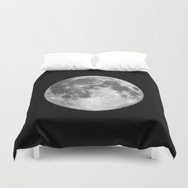 Full Moon print black-white photograph new lunar eclipse poster bedroom home wall decor Duvet Cover
