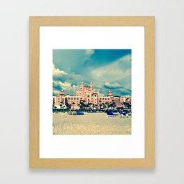 Castle in the Pink Framed Art Print