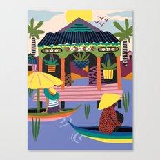 Water Village, Cambodia Canvas Print