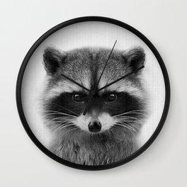 raccoon headshot Wall Clock