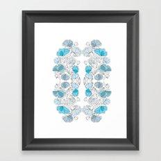 blue perversion Framed Art Print