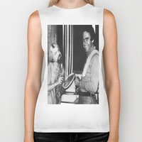 chad wys Biker Tanks featuring Ted Bundy, Chad the Chicken by Chad M. White