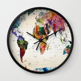 map Wall Clock