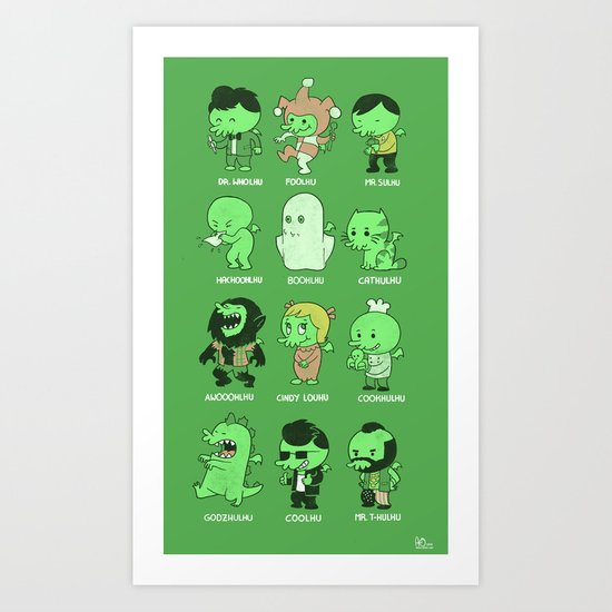 Cthul-Who?  Art Print