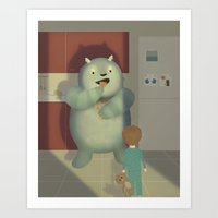 The unexpected visitor Art Print