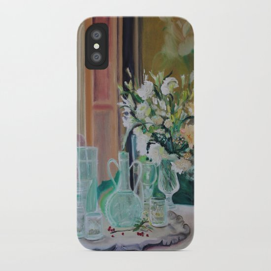 Bunch of white flowers iPhone Case