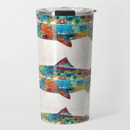 Fish Art Print - Colorful Salmon - By Sharon Cummings Travel Mug