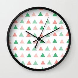 Bouncy Triangles // Pattern Art Wall Clock