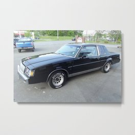 Rare 1987 Grand National Regal T-Type in black with rare 307 V8 and no hood scoop option Metal Print