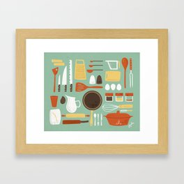 Kitchen Inventory Framed Art Print