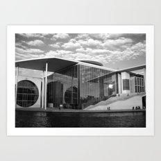 Bundestag in Berlin, Germany.  Art Print