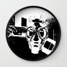 Nothing Left B&W Wall Clock