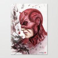 daredevil Canvas Prints featuring Daredevil by rchaem