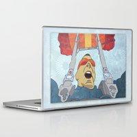 ski Laptop & iPad Skins featuring Ski dive by Aquamarine Studio