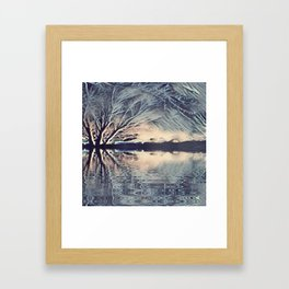 Ice Storm Reflection Framed Art Print
