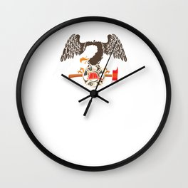 Patriotic Firefighter Eagle Fire Department Wall Clock