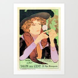 Art Nouveau Expo Salon des Cent Paris Art Print