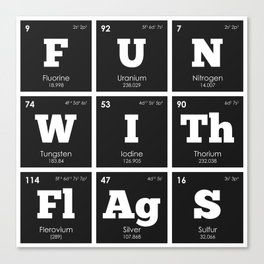 Periodic Elements: Fun with Flags Canvas Print