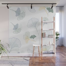 ginkgo biloba leaves pattern Wall Mural