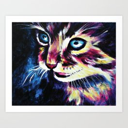 Cheshire Cat in a Good Mood Art Print