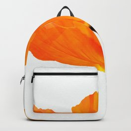 One And Only - Orange Poppy White Background #decor #society6#buyart Backpack
