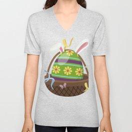Funny Easter Bunny Easter Eggs Rabbit Gift Idea print Unisex V-Neck