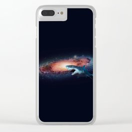 Space Shark Clear iPhone Case
