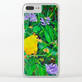 The Yellow Finch Clear iPhone Case
