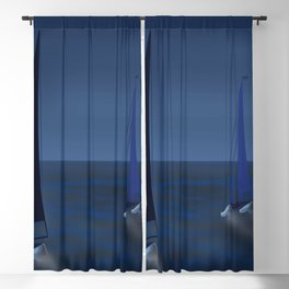 May on a Fast Lane - shoes stories Blackout Curtain