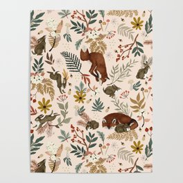 Animals winter wild nature 63 Poster
