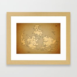 Gaia Midgar Final Fantasy VII Map Framed Art Print