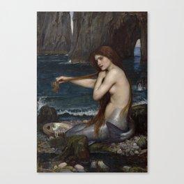 Mermaid Painting John William Waterhouse Canvas Print