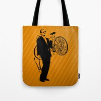 murray Tote Bags featuring Bill Murray by Spyck