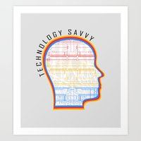 technology Art Prints featuring Technology Savvy by Adil Siddiqui