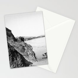 Flat boat moored in Needles Canyon, on the Colorado River, 1900-1950 Stationery Cards