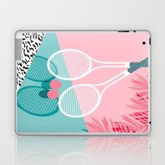 Sportin' - retro minimal pastel neon throwback memphis style pop art tennis sport court player Laptop & iPad Skin