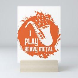 Saxophone Heavy Metal Band Musician Music Saxo Fan Gift design Mini Art Print