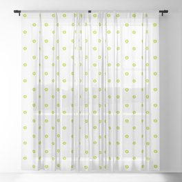 Handmade dots pattern in lime Sheer Curtain