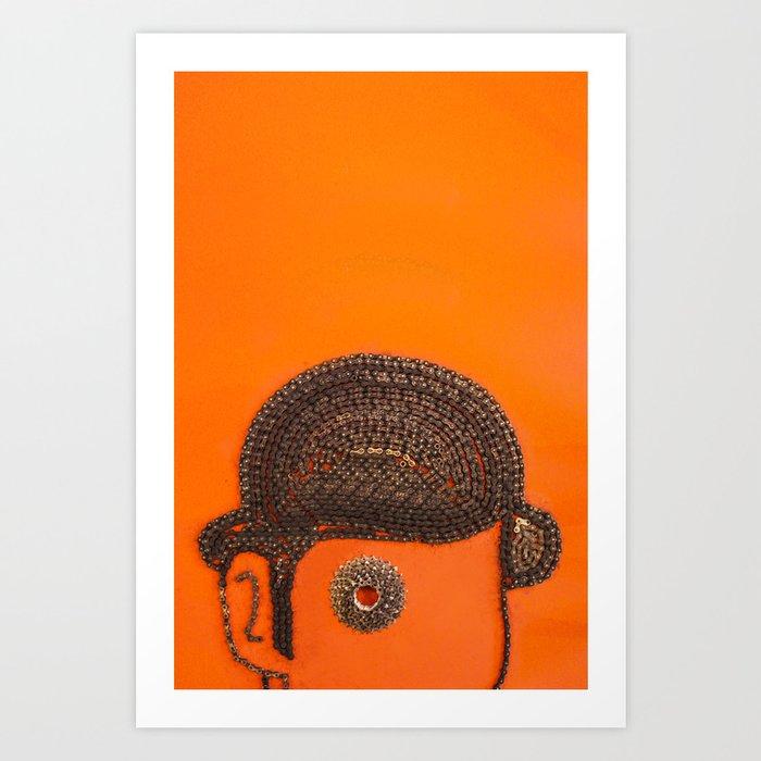 002: Clockwork Orange - 100 Hoopties Art Print