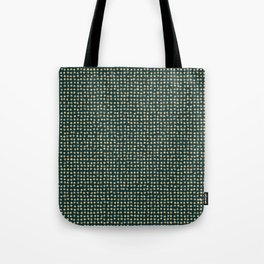 Gold dots on dark green - soft pastel Tote Bag
