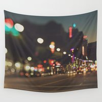hollywood Wall Tapestries featuring Hollywood Boulevard. Los Angeles by Myan Soffia