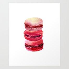 pink macaron stack Art Print