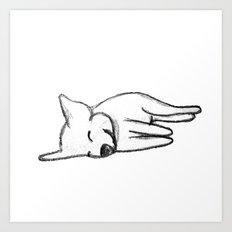 Dog Sketch Art Print