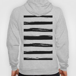 Stylish Black and White Stripes Hoody