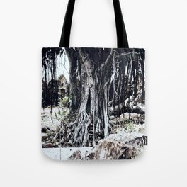 Tree Faces Tote Bag