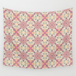 modern arabic pattern in pastel colors Wall Tapestry